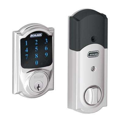 Camelot Bright Chrome Connect Smart Door Lock with Alarm