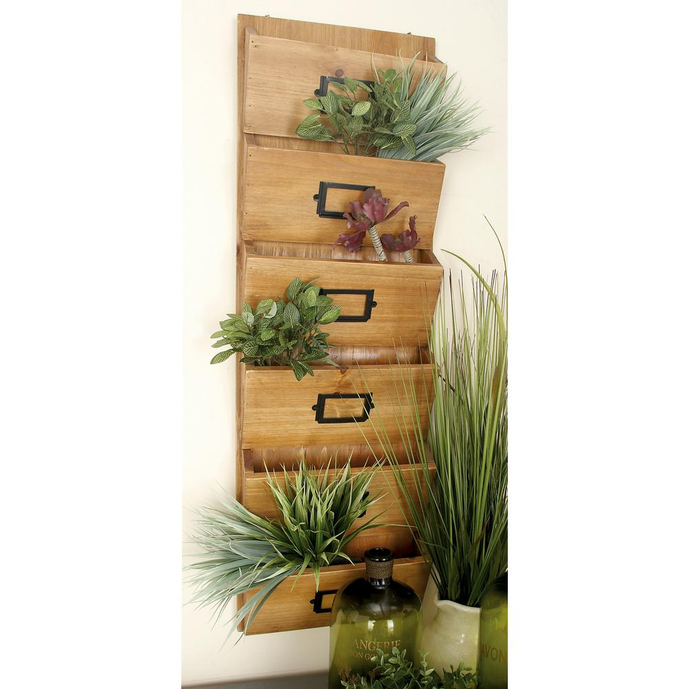 12 in. W x 36 in. H Firwood 6-Tiered Wall-Mounted Letter