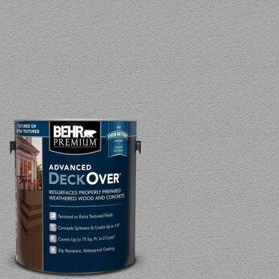 1 gal. #PFC-68 Silver Gray Textured Solid Color Exterior Wood and Concrete Coating