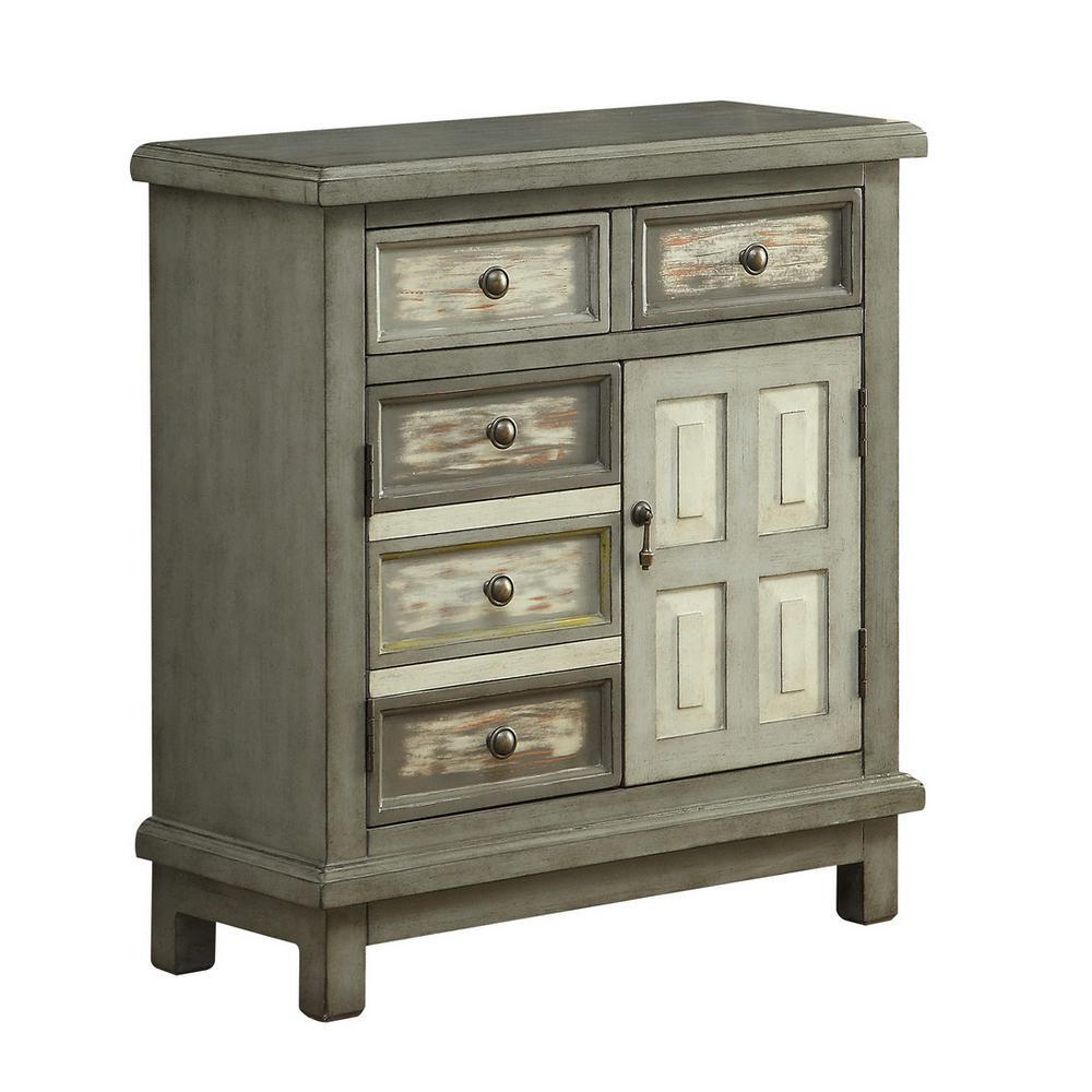 Homestead Grey 2-Drawer 2-Door Cabinet