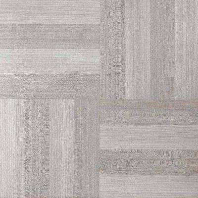 Tivoli Ash Grey 12 in. x 12 in. Peel and Stick Parquet Vinyl Tile (45 sq. ft. / case)