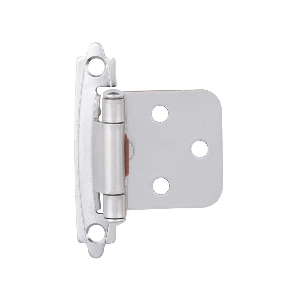 liberty satin nickel self closing overlay cabinet hinge 1 pair rh homedepot com