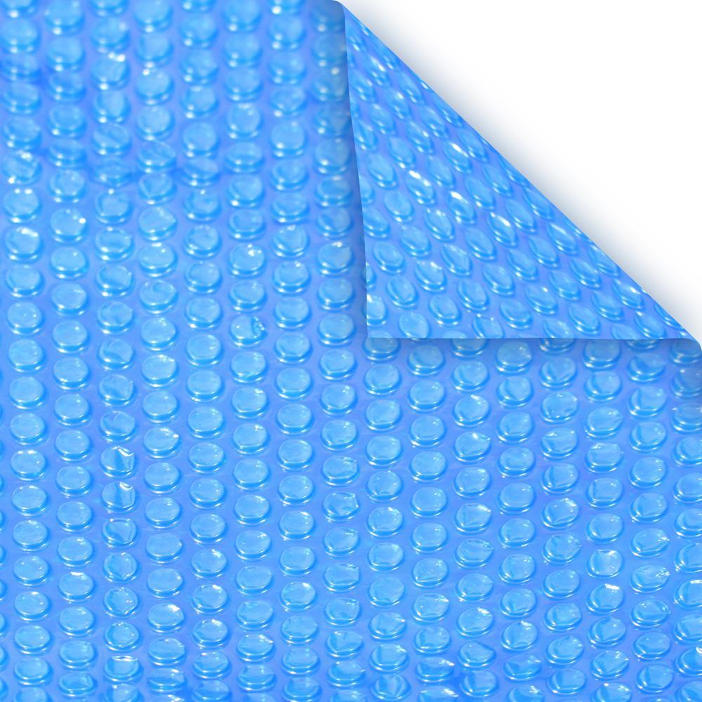 Deluxe 3-Year 4 ft. x 8 ft. Rectangular Blue Solar Pool Cover