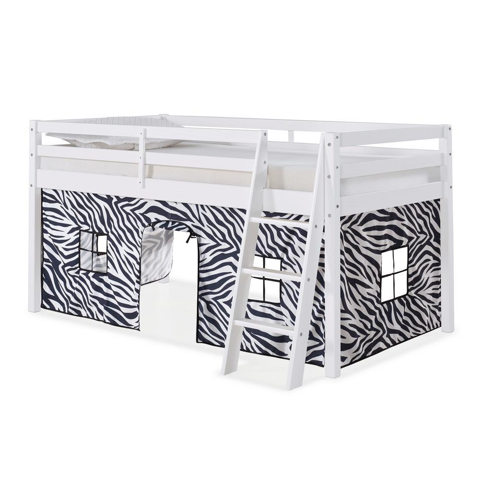 Roxy White with Zebra Tent Twin Junior Loft