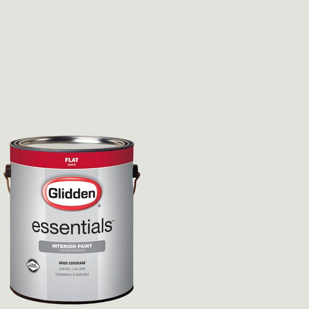 Awesome Glidden Essentials 1 Gal. #HDGCN48 Stone White Flat Interior Paint
