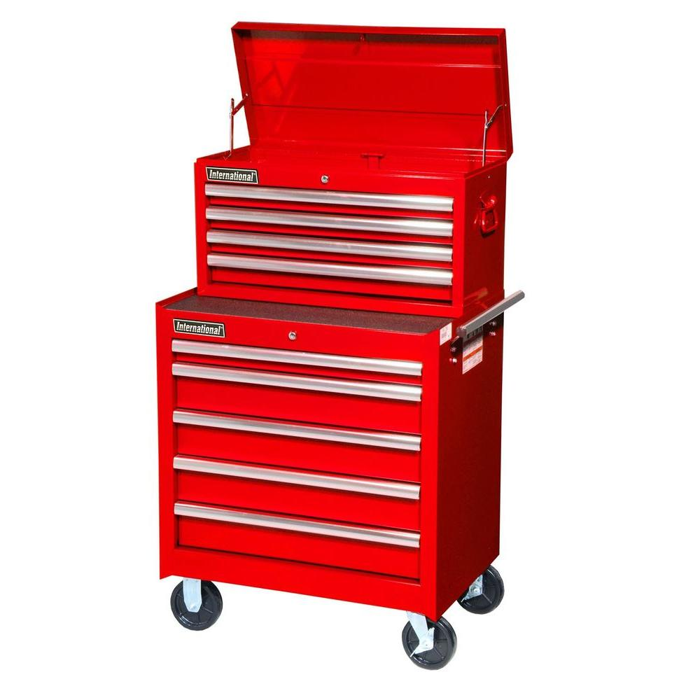 International Tech Series 27 in. 9-Drawer Combo, Red