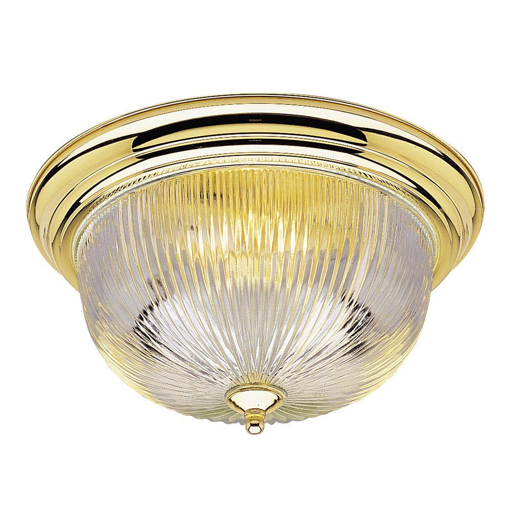 westinghouse 3 light ceiling fixture polished brass interior flush