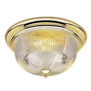 Westinghouse 3-Light Ceiling Fixture Polished Brass Interior Flush-Mount with... by Westinghouse