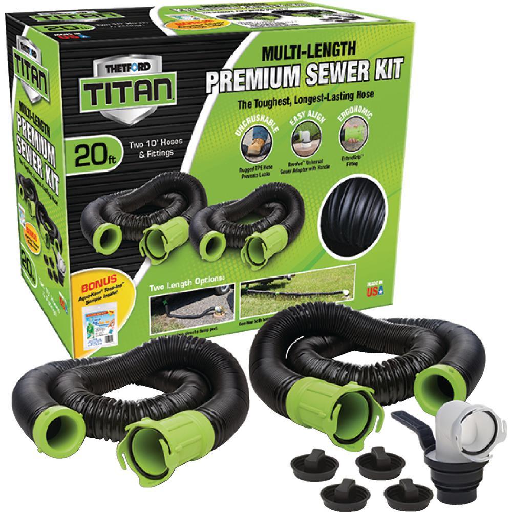 Titan 20 ft. Premium RV Sewer Kit System