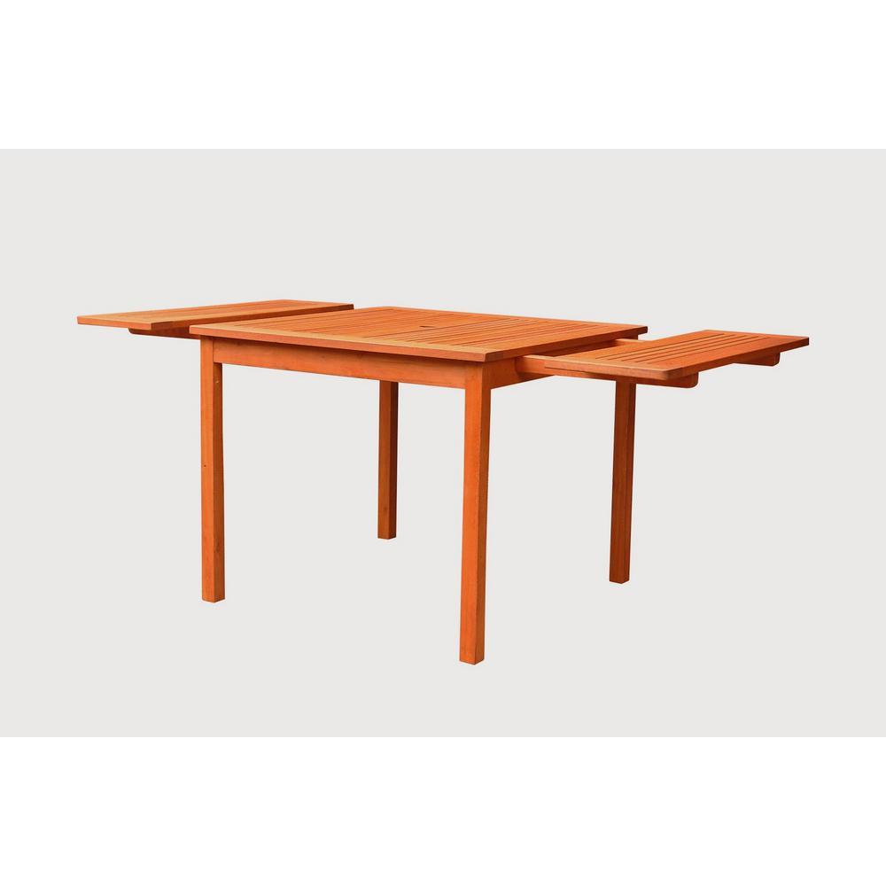 Vifah Malibu Rectangle Extension Outdoor Dining Table
