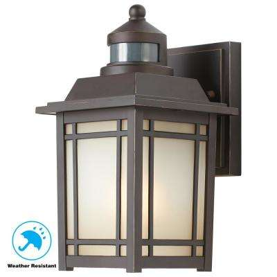 Port Oxford 1 Light Oil Rubbed Chestnut Outdoor Motion Sensor Wall Lantern