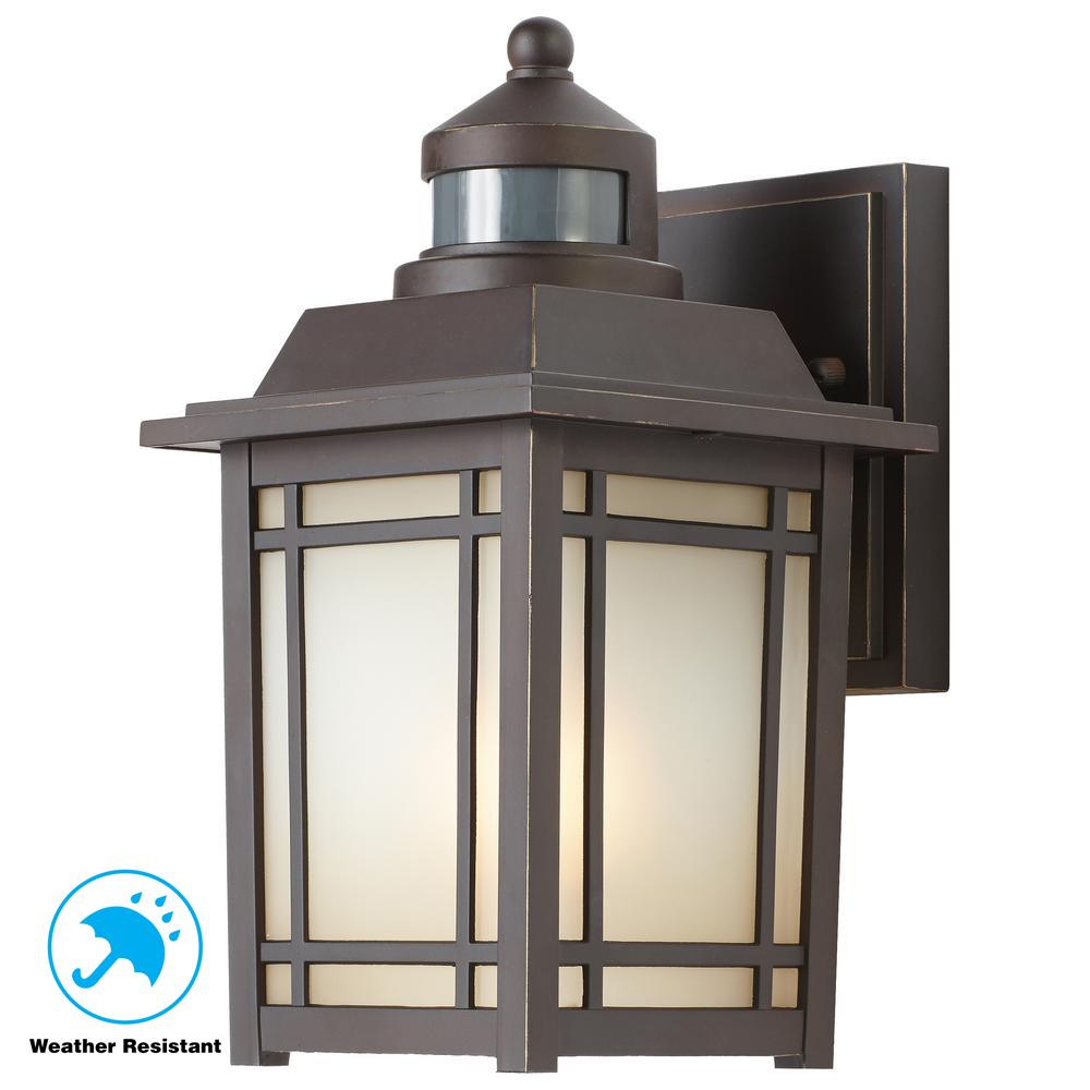 Home Depot Garage Lights Outdoor: Home Decorators Collection Port Oxford 1-Light Oil-Rubbed