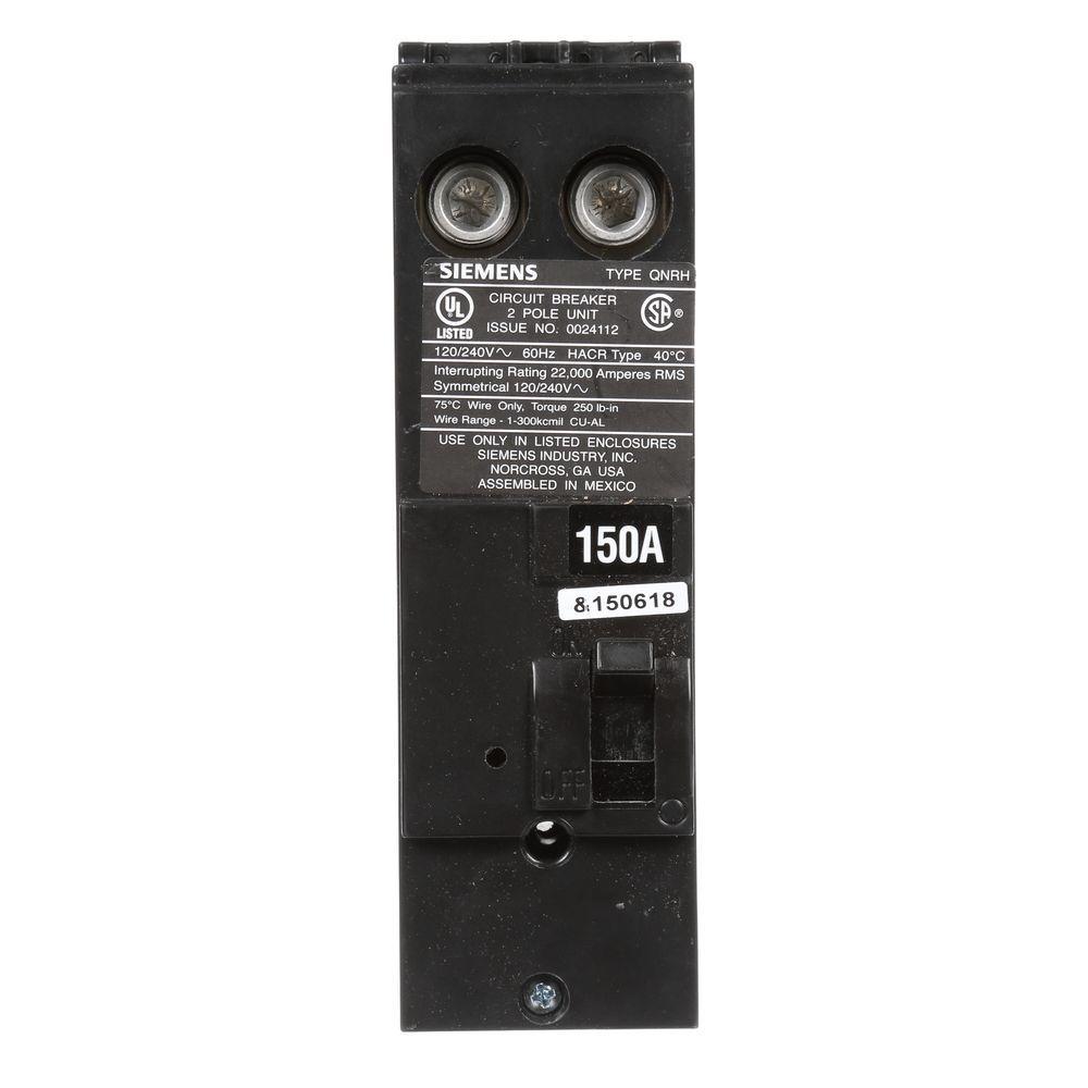 150 Amp Double-Pole Type QNH 22kA Reverse Handle Circuit Breaker