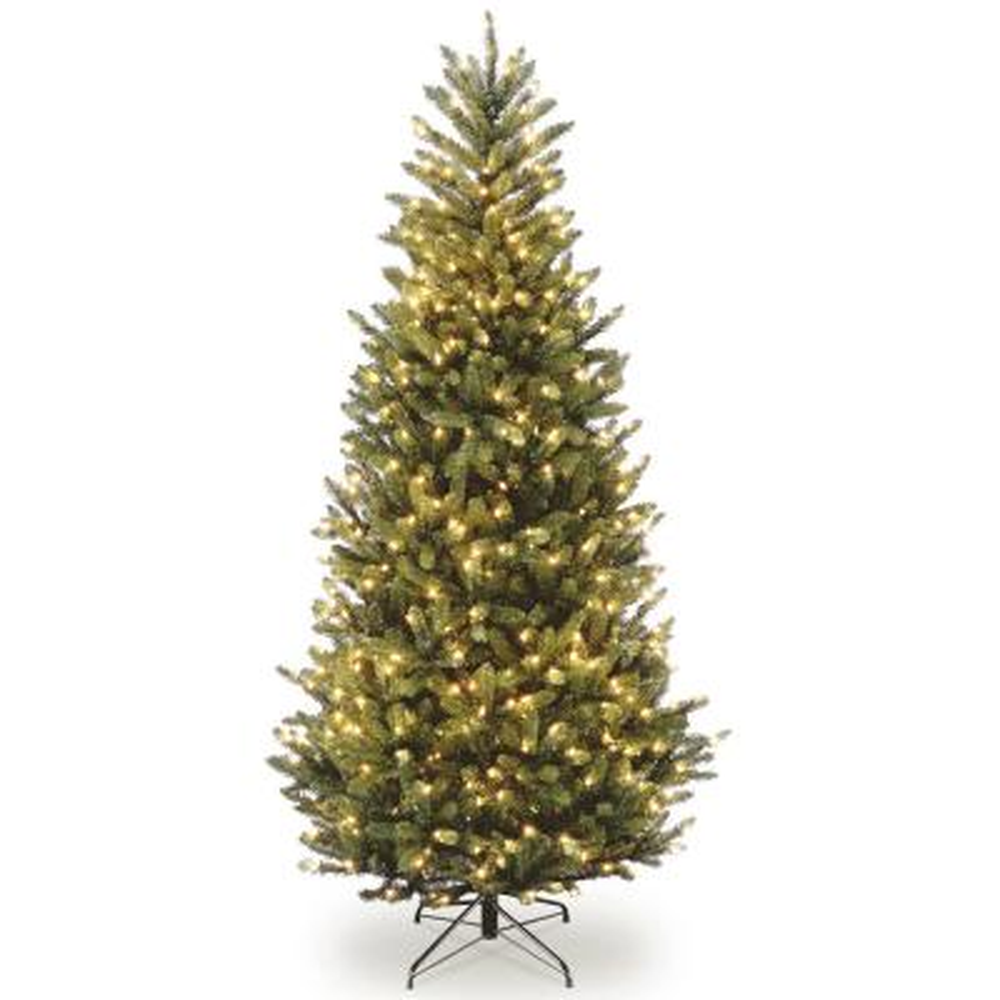 6.5 ft. Natural Fraser Slim Fir Tree with Clear Lights