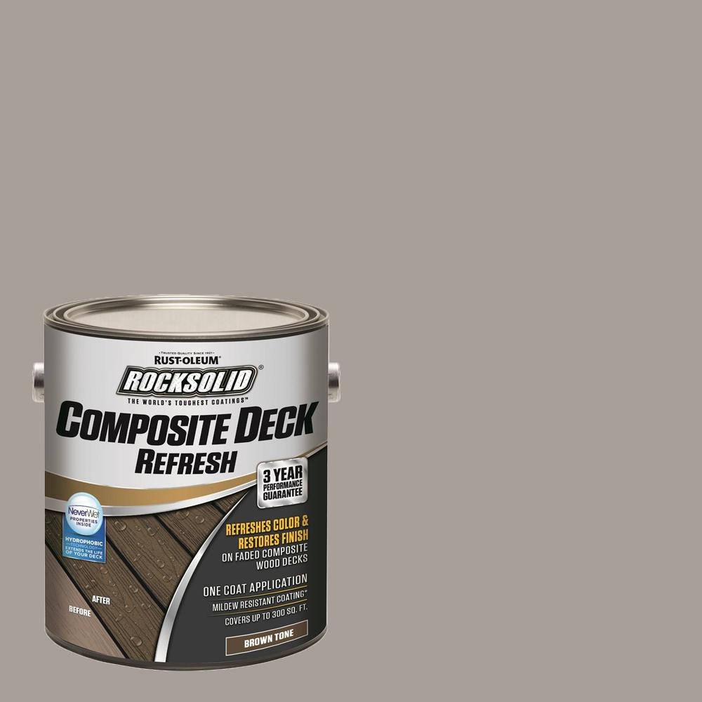 Rust-Oleum RockSolid 1 Gal. Brown Tone Composite Deck Coating (2 Pack)