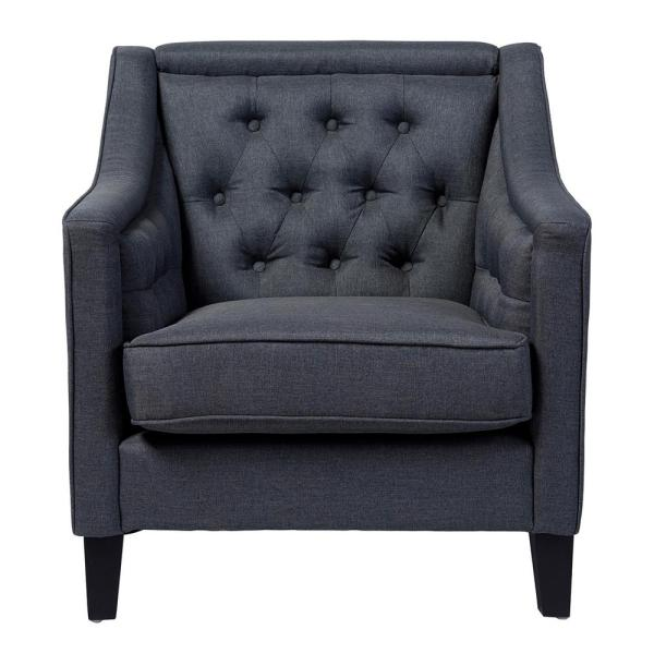 Baxton Studio Vienna Contemporary Gray Fabric Upholstered Accent Chair 28862-6671-HD