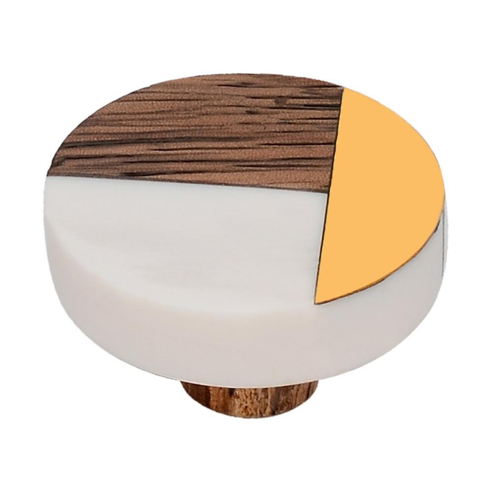 Fusion 1-1/2 in. White Cabinet Knob