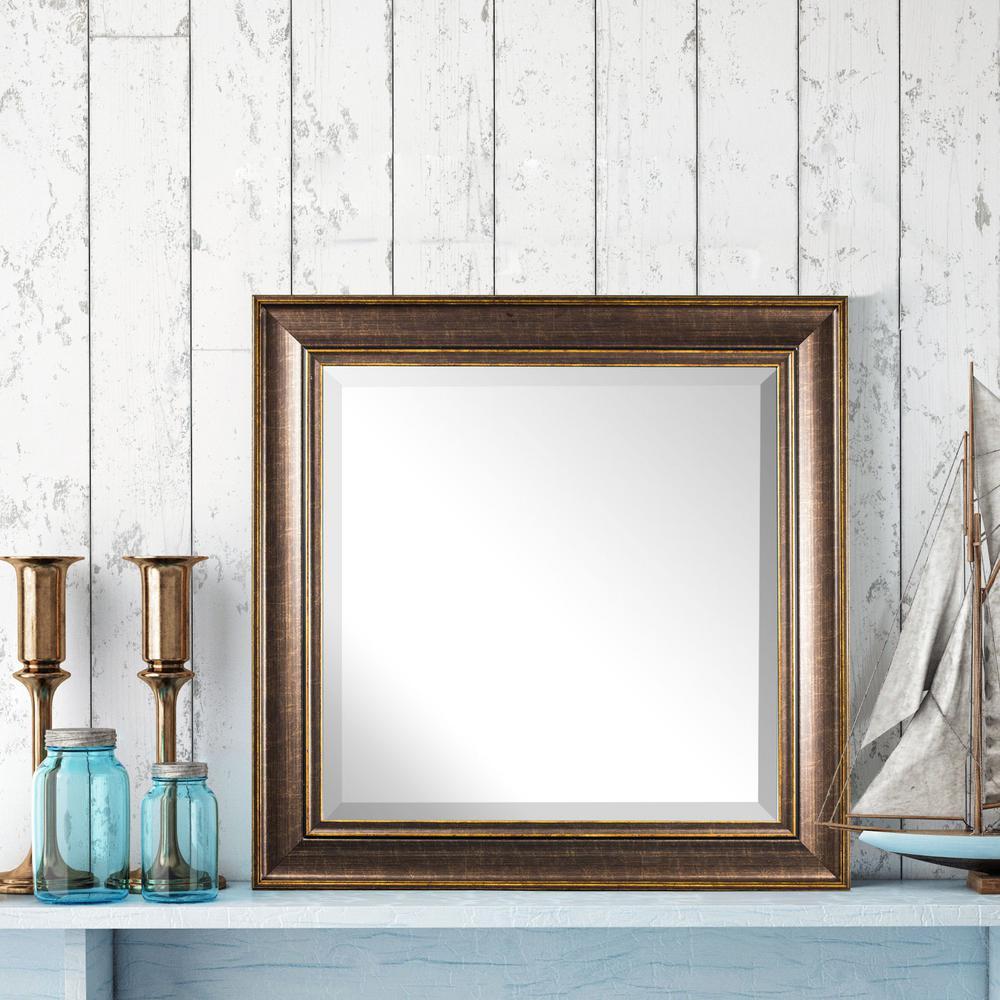Crystal Art Gallery Bentley Square Brown Vanity Mirror