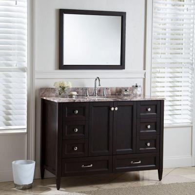 Claxby 32 in. W x 26 in. H Wall Mirror in Chocolate