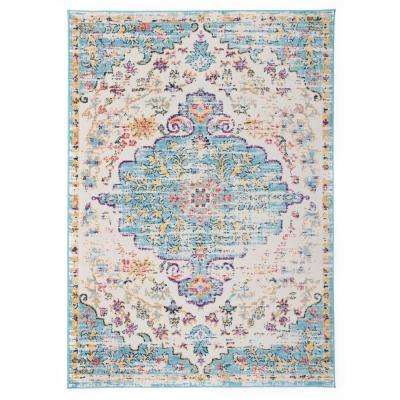 Vintage Traditional Bohemian 5 ft. x 7 ft. Blue Area Rug