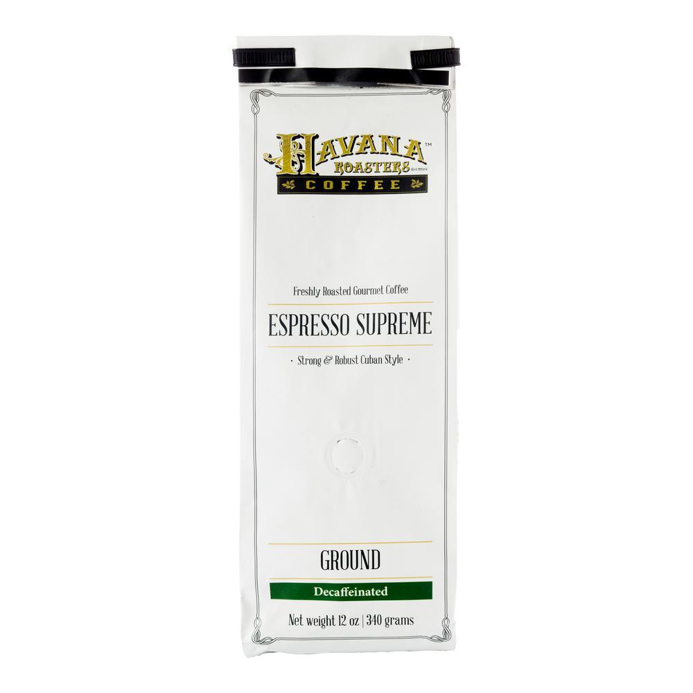 12 oz. Espresso Supreme Decaf Coffee Ground (12-Bags)