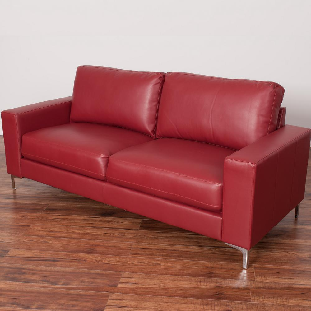 Superieur CorLiving Cory Contemporary Red Bonded Leather Sofa