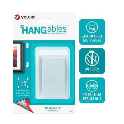 HANGables Removable Wall Fasteners 3 in. x 1-3/4 in. Strips (4-Count)