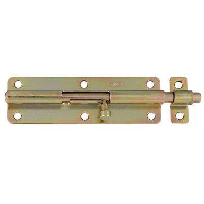 6 in. Satin Brass Tone Barrel Bolt with Screw