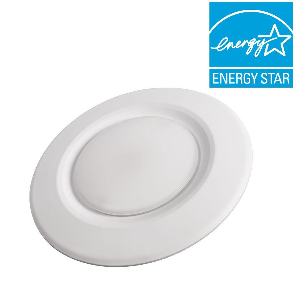 Commercial electric 4 in soft white recessed led can disk light ce soft white recessed led can disk light aloadofball Images