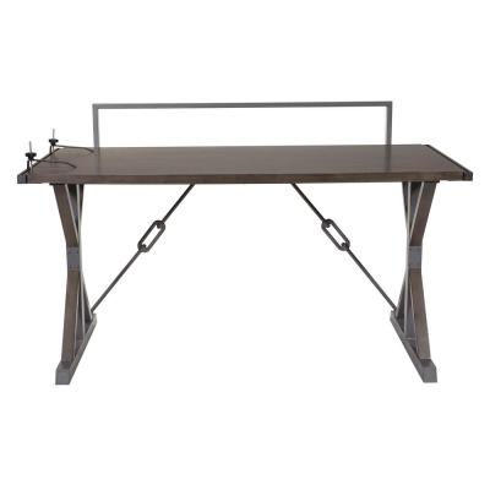 Creator Desk in Grey with Power Strip Bracket