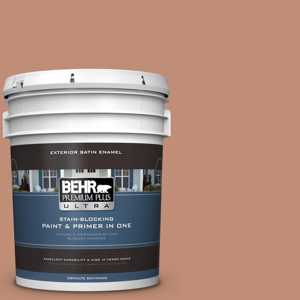 BEHR Premium Plus Ultra 5-gal. #230F-5 Suntan Glow Satin Enamel Exterior Paint