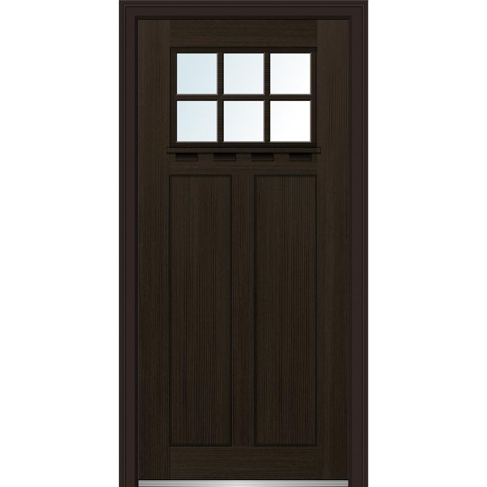 32 ...  sc 1 st  Home Depot & Single Door - Dark Brown Wood - Front Doors - Exterior Doors - The ...