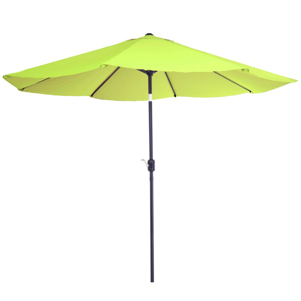 Aluminum Patio Umbrella With Auto Tilt In Lime Green