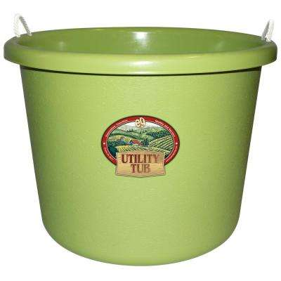 17.5 Gal. Bucket Utility Tub For Maintenance Cleaning Growing and More Sage Green