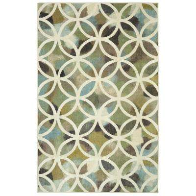 Random Symmetry Light Green 8 ft. x 10 ft. Area Rug