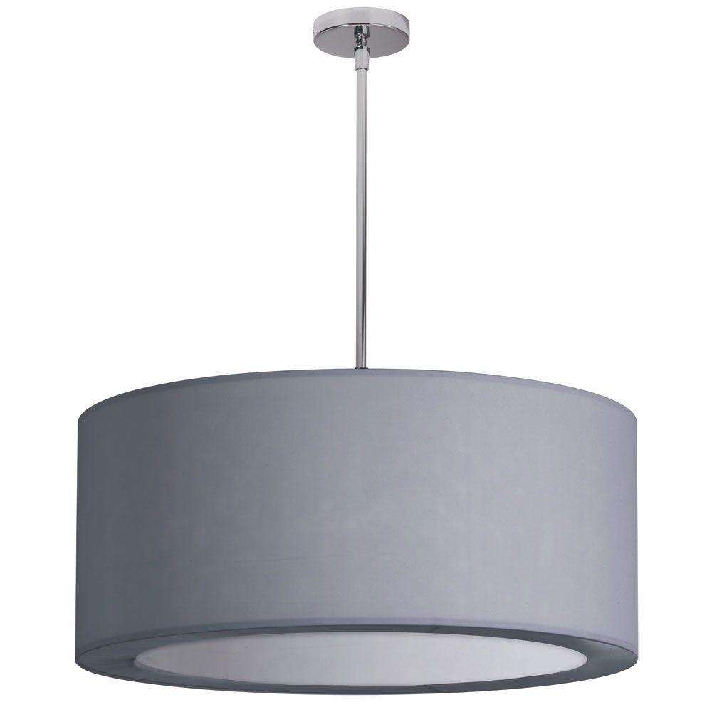 Gray Drum Pendant Lights Hanging Lights The Home Depot