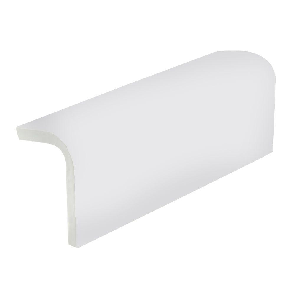 U.S. Ceramic Tile Color Collection Matte Tender Gray 2 in. x 6 in. Ceramic Sink Rail Wall Tile-DISCONTINUED