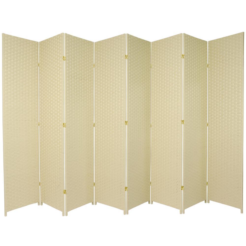 7 ft Dark Beige 8 Panel Room Divider SS7FIBER DBG 8P The Home Depot
