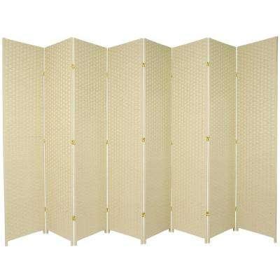 7 ft. Cream 8-Panel Room Divider