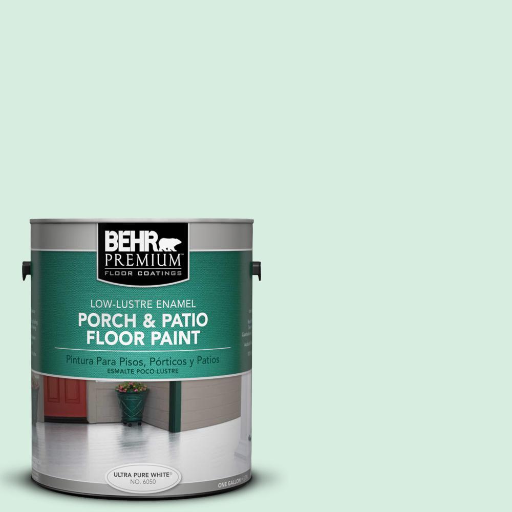 1 gal. #P410-1 Pondscape Low-Lustre Interior/Exterior Porch and Patio Floor Paint
