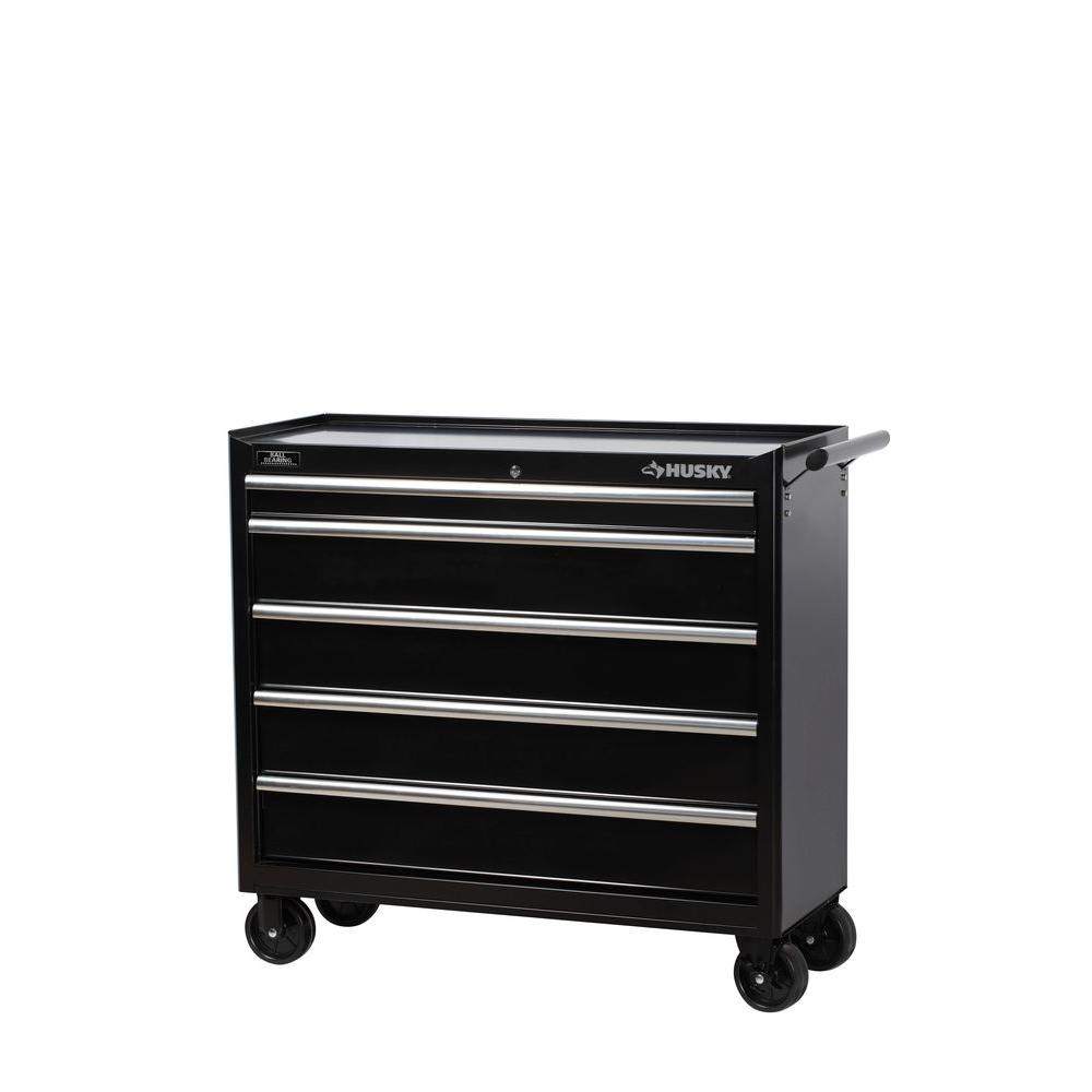 Husky 41 in. W 5-Drawer Tool Cabinet
