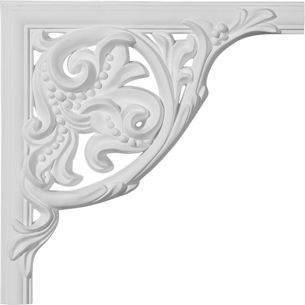 Ekena Millwork 11 in. x 1 in. x 11 in. Urethane Kepler Panel Moulding Corner (Matches Moulding PML01X01KP)