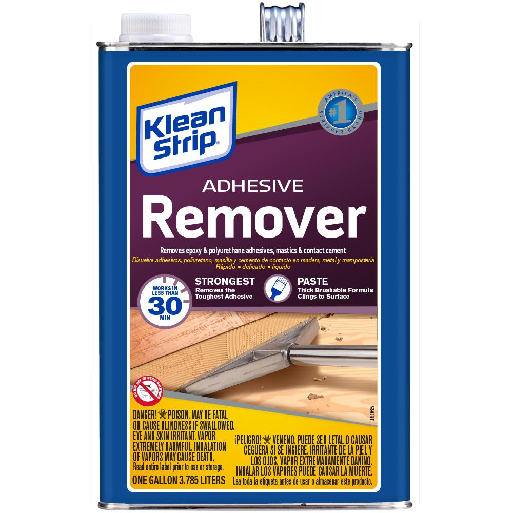 Klean Strip 128 Oz Adhesive Remover Gkas94325 The Home Depot