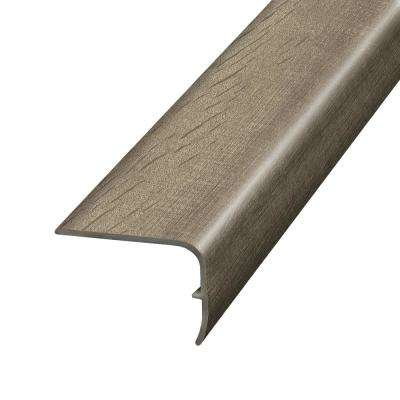 Stony Oak Beige and Grey 1.32 in. Thick x 1.88 in. Wide x 78.7 in. Length Vinyl Stair Nose Molding