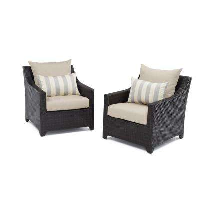 Deco Patio Club Chair with Slate Grey Cushions (2-Pack)