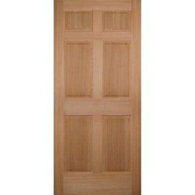 Unfinished 6 Panel Slab Doors Interior Closet Doors The
