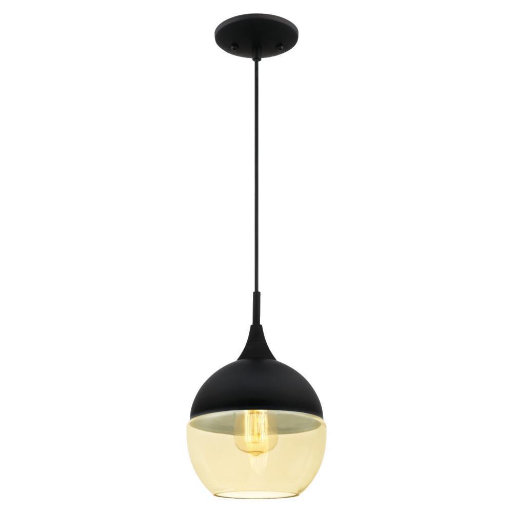 Westinghouse 1-Light Matte Black Mini Pendant