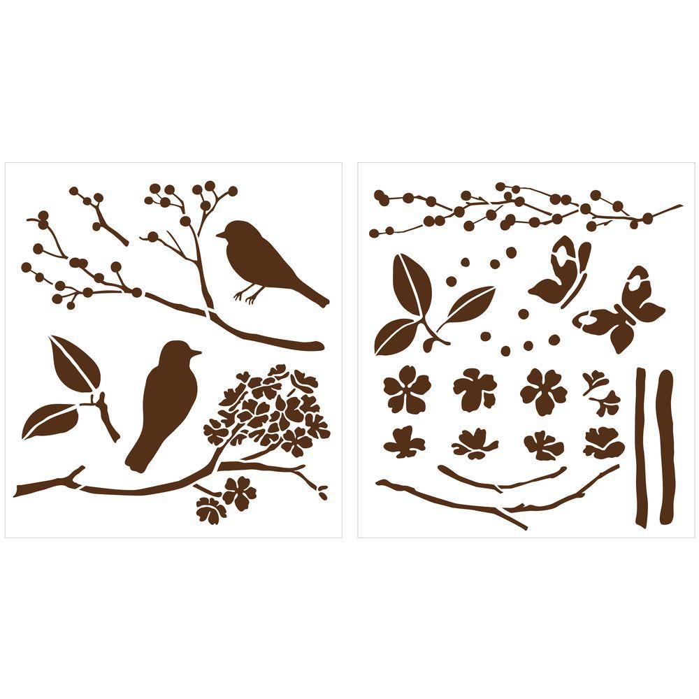 Martha Stewart Crafts Birds and Berries Laser-Cut Stencils