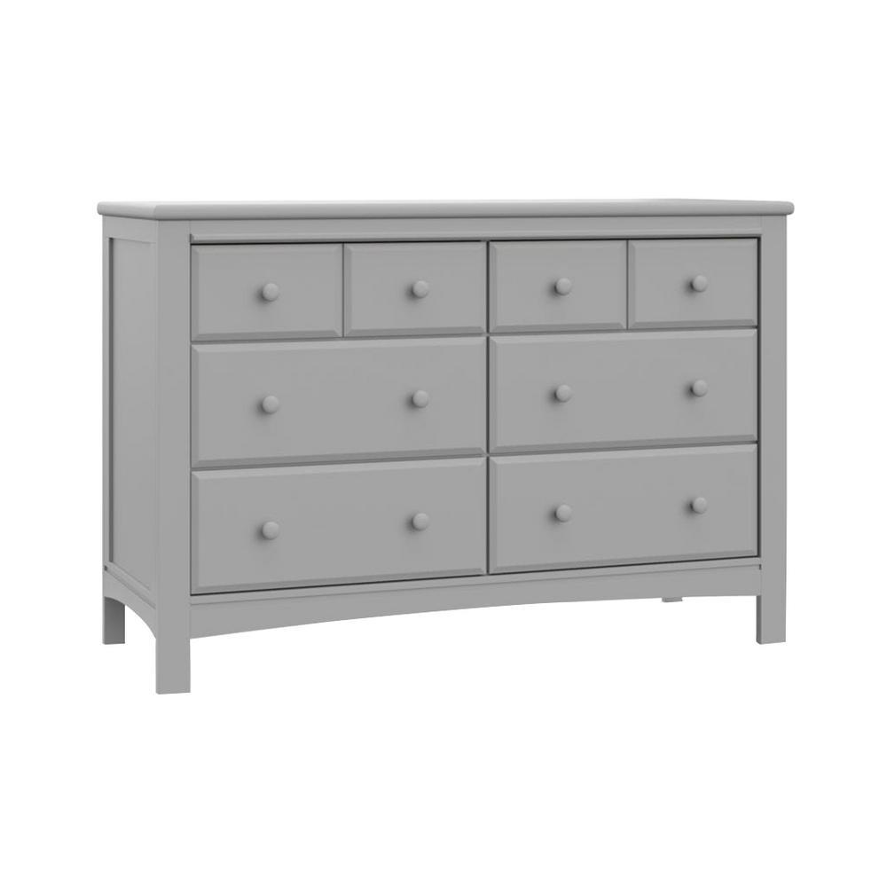 6-Drawer Benton Pebble Gray Dresser