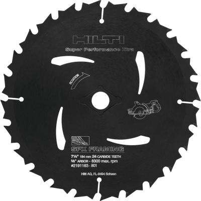 7-1/4 in. 24-Teeth per in. Carbide Tipped SPX Framing Circular Saw Blade (15-Pieces)